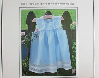 French Acadian Sundress / Sundress Pattern / Heirloom Dress /  Play Dress / Classic Pattern / Jeannie Baumeister / The Old Fashioned Baby