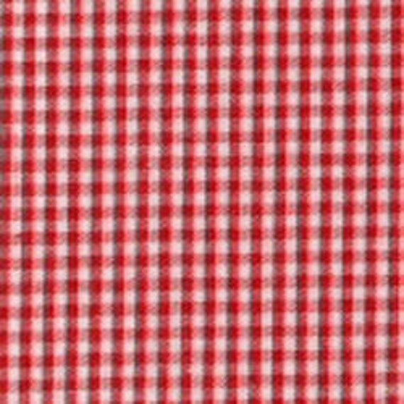 "Gingham/ Red Gingham / Small Gingham / 1/16 Gingham  / by Fabric Finders 60"" wide"