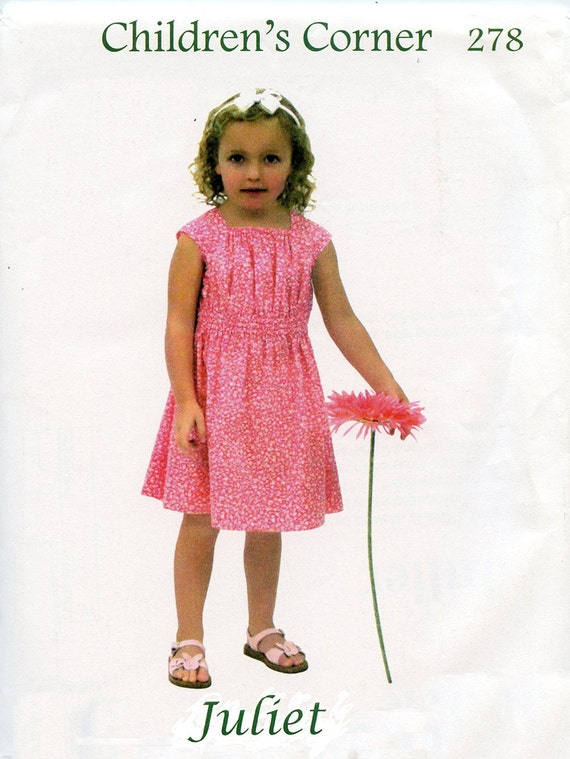 Childrens Corner Pattern / Juliet Pattern / Girls Dress Pattern / Easy Pattern /  Children's Corner  #278