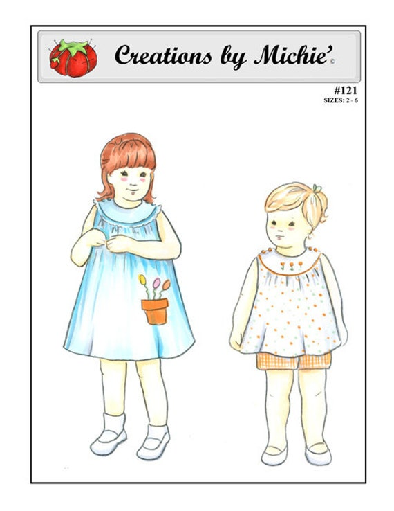 Girl's Dress / Pattern / Sundress / Shorts & Top / Round Neck / Button Shoulder / by Creations by Michie #121