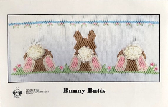 Easter Smocking Plates / Bunny Butts / Smocking /Smocked Dress / Easter Outfit / Smocked Romper / Smocking Plate / CEC Smocking Plates