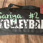 Personalized Volleyball Fleece Roll Up Blanket, several colors to choose from. Sports Fleece Blanket.