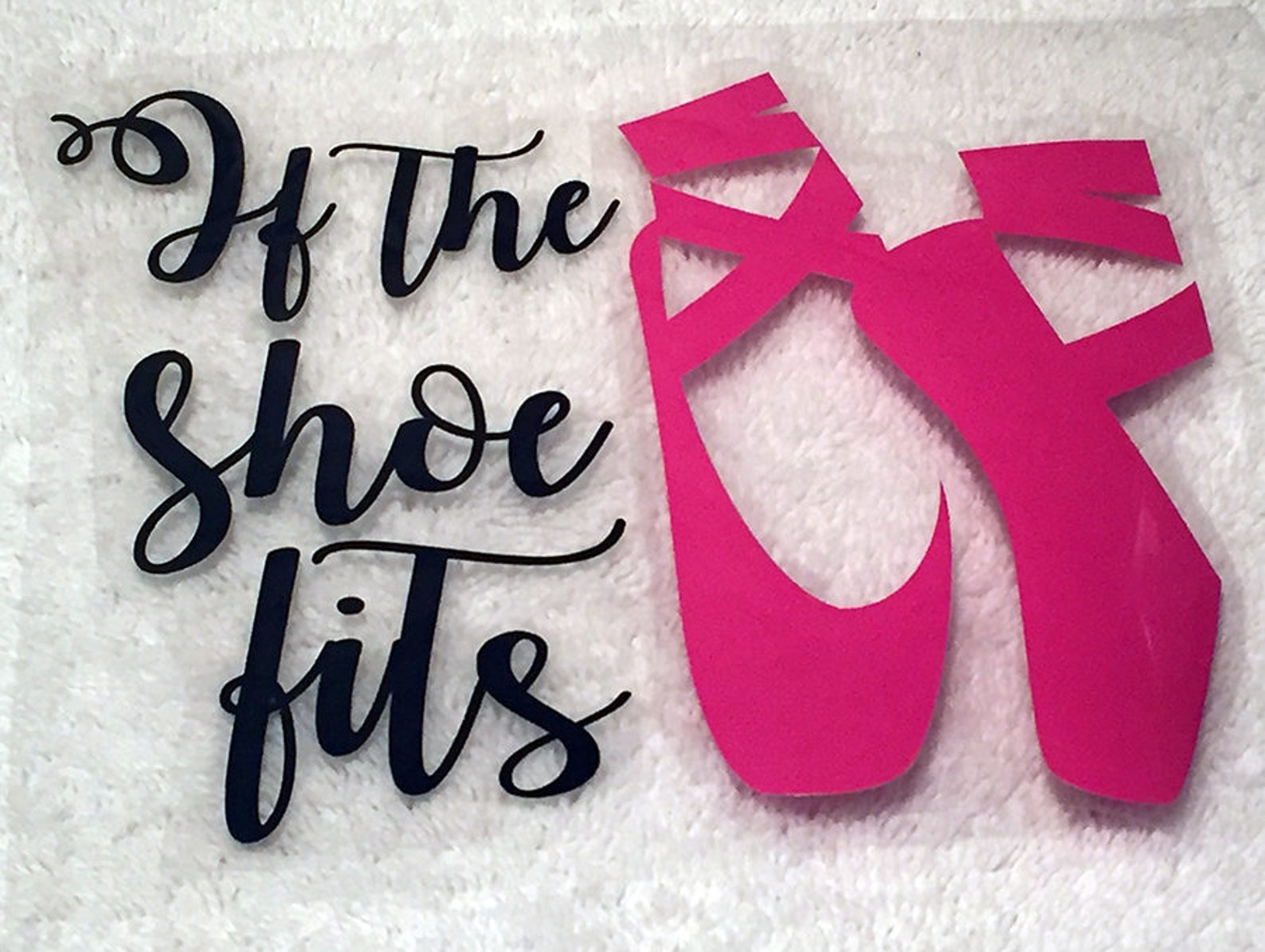 if the shoe fits - iron on heat transfer vinyl, ballet, dance iron on - free shipping!