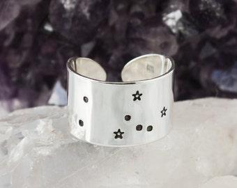 Taurus Zodiac Constellation Ring. Taurus gift. Zodiac jewelry. Zodiac ring. Sterling Silver or Aluminum Constellation ring RTS