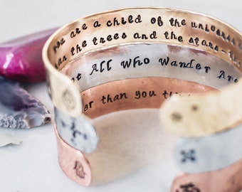 Personalized yoga bracelet. Inspirational custom quote bracelet. Personalized gift. Personalized quote bracelet. Customizable bracelet.
