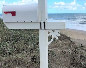 Mailbox Bracket - Palm Tree Small 7x9 inch, Custom Mailbox, Coastal, Tropical, Bracket, Outdoor Decor, Mailbox & Post Not Included