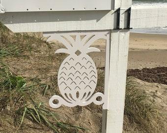 Mailbox Bracket - Pineapple Medium 12x16 inch, Custom Mailbox, Coastal, Tropical, Bracket, Outdoor Decor, Mailbox & Post Not Included
