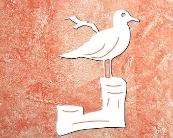 Wall Art, Seagull, Tropical, Outdoor Decor, Housewarming Gift, Nautical, Coastal, Custom, PVC Wall Art, Long Lasting