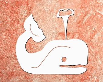 Wall Art, Whale Cute, Tropical, Outdoor Decor, Housewarming Gift, Nautical, Coastal, Custom, PVC Wall Art, Long Lasting
