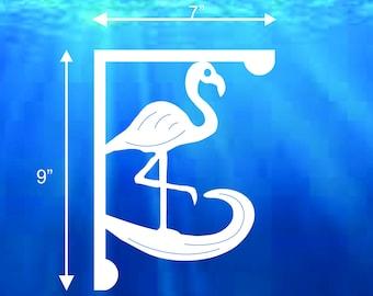 Mailbox Bracket - Flamingo Small 7x9 inch X2 Pieces, Custom Mailbox, Coastal, Tropical, Bracket, Outdoor Decor, Mailbox & Post Not Included