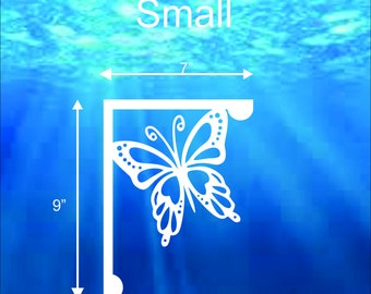 Mailbox Bracket - Butterfly Small 7x9 inch, Custom Mailbox, Coastal, Tropical, Bracket, Outdoor Decor, Mailbox & Post Not Included
