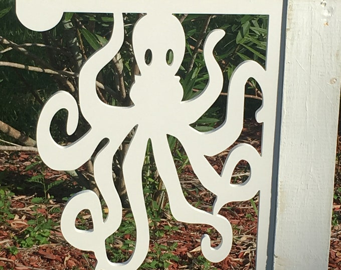 Featured listing image: Mailbox Bracket - Octopus Large 16x21 inch, Custom Mailbox, Coastal, Tropical, Bracket, Outdoor Decor, Mailbox & Post Not Included