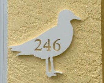 SAVE ON SETS! Seagull Mailbox Bracket and House Number Plaque. Large Bracket 16 x 21 inches, Plaque 14 x 11 inches (approx)