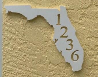 House Number Plaque - Florida, Address Plaque, Custom, Personalized, Housewarming Gift, Tropical, Outdoor Decor, Ships Free To Mainland USA