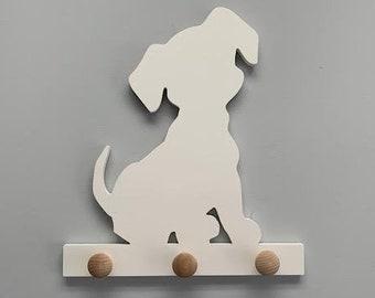 Coat Rack - Cute Puppy, Robe Hook, Apron Hook, Hat Rack, Wall Hook, Entryway Organizer, Free Shipping to Mainland USA, USA Handmade