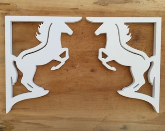 Screen Door Decor - Horse Small X2, Custom Mailbox, Bracket, Outdoor Decor, 7x9 inch Free Shipping to Mainland USA