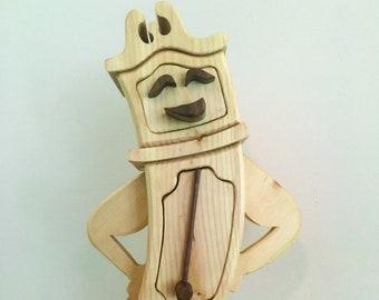 Solid Wood Box w/Drawers - Grandfather Clock, Jewelry Box, Handcrafted, Custom Box, Personalized Box, Handmade, Engraved, Stash Box
