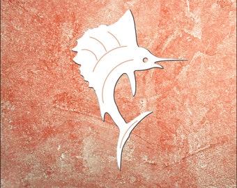Wall Art, Sailfish, Tropical, Outdoor Decor, Housewarming Gift, Nautical, Coastal, Custom, PVC Wall Art, Long Lasting