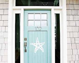 Wall Art, Starfish, Tropical, Outdoor Decor, Housewarming Gift, Nautical, Coastal, Custom, PVC Wall Art, Long Lasting