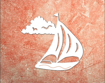 Wall Art, Sailboat, Tropical, Outdoor Decor, Housewarming Gift, Nautical, Coastal, Custom, PVC Wall Art, Long Lasting