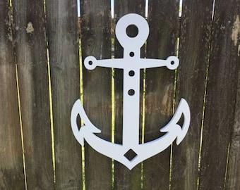 Wall Art, Anchor, Tropical, Outdoor Decor, Housewarming Gift, Custom, Coastal, Nautical, PVC Wall Art, Long Lasting