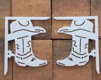 Screen Door Decor - Cowboy Boot Small X2, Custom Mailbox, Outdoor Decor, 7x9 inch Free Shipping to Mainland USA
