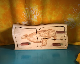 Solid Wood Box, Engraved
