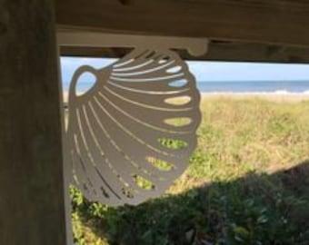 Mailbox Bracket - Seashell Medium 12x16 inch, Custom Mailbox, Coastal, Tropical, Bracket, Outdoor Decor, Mailbox & Post Not Included