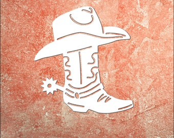 Wall Art, Cowboy Boot, Boot, Country Boot,Outdoor Decor, Housewarming Gift, Nautical, Coastal, Custom, PVC Wall Art, Long Lasting