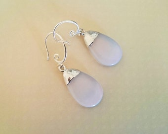Moon stone drop earrings , silver plated , drop earrings , gift for her, Christmas gift
