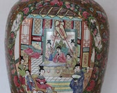 Large Antique Chinese Famille Rose Jar w Mark Qianlong Period Porcelain Imperial