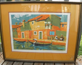 """Rare Alan Stenhouse Gourley Print Signed and Dated w COA """"The Day Begins"""""""
