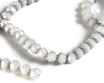 Fabrication de Bijoux Tchèque 4 mm Firepolish Black Diamond Faceted Round Beads x100