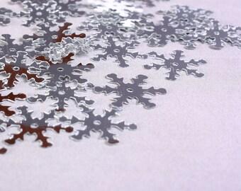 19 mm 34 25 silver snowflake sequins  confetti