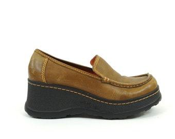 18ee2937375 MIA 90s Platform Leather Wedges