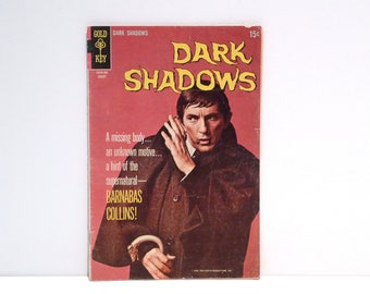 Dark Shadows Comic Book August 1969 Vintage Barnabas Collins Vampire Gold Key 2 Angelique Witch Jonathan Frid Goth TV Soap Opera Show 1960s