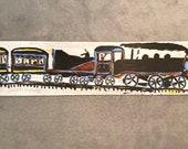 Jimmy Lee Sudduth Painting Wood Locomotive Steam Train 1990 Vintage Folk Art Self Taught Folk Artist Signed Alabama Artist African American