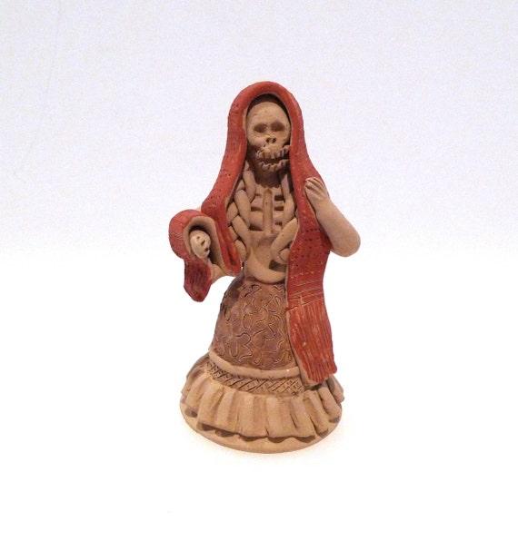 Day of the Dead Catrina Figure 90s Vintage Enedina Vasquez  746c81dec21