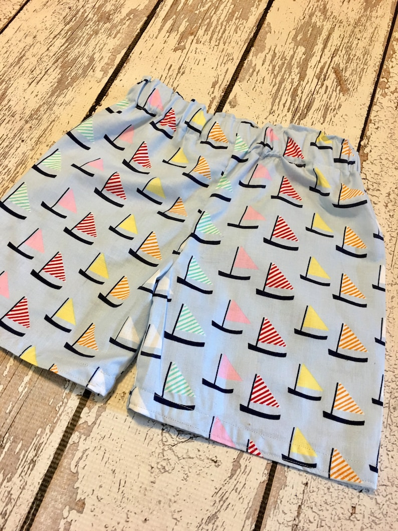 6e2d087a79 Boys sailboat shorts boys boat shorts baby boys boat shorts | Etsy