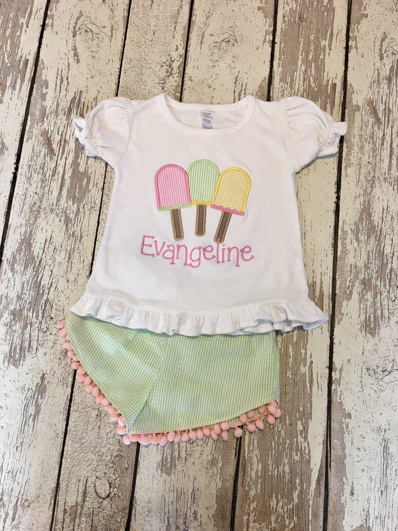 1f8d371aec08 Popsicle outfit girls summer outfit Popsicle shirt popsicle