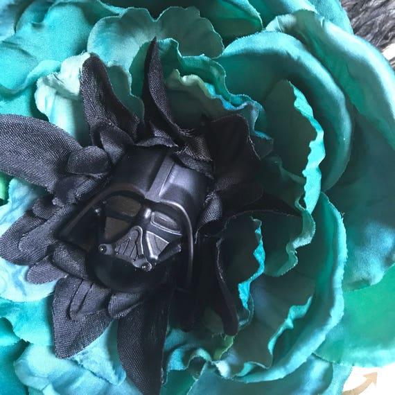 Darth Vader Hair clip pinup fascinator pink daisy beautiful wedding birthday gift holiday convention cosplay love Star Wars art fun cool
