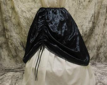 Black Renaissance Costume-Halloween Costume-Medieval Skirt-LARP-Ren Fair-Steampunk-SCA-Adult Costume-Fantasy Skirt-Item #166