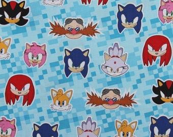 Sonic The Hedgehog Fabric Etsy