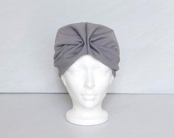0b09d18fc4f Vintage 1950s grey turban hat