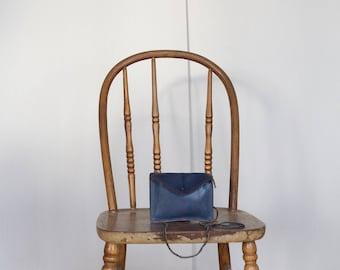 Vintage blue mini leather bag