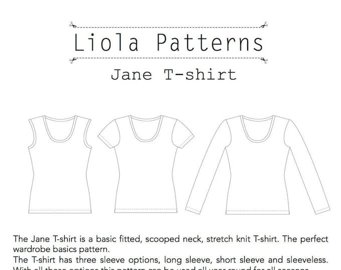 Jane T-shirt PDF sewing pattern