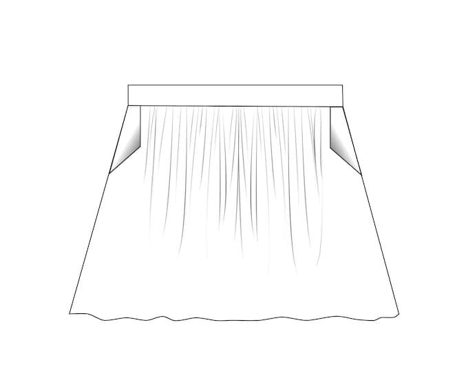 Lilly Skirt kids pdf sewing pattern