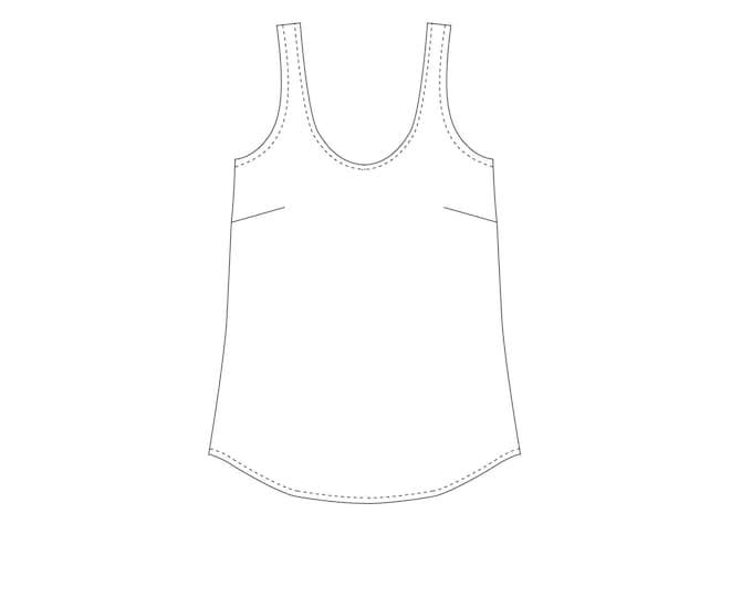 Ella Top PDF Sewing Pattern