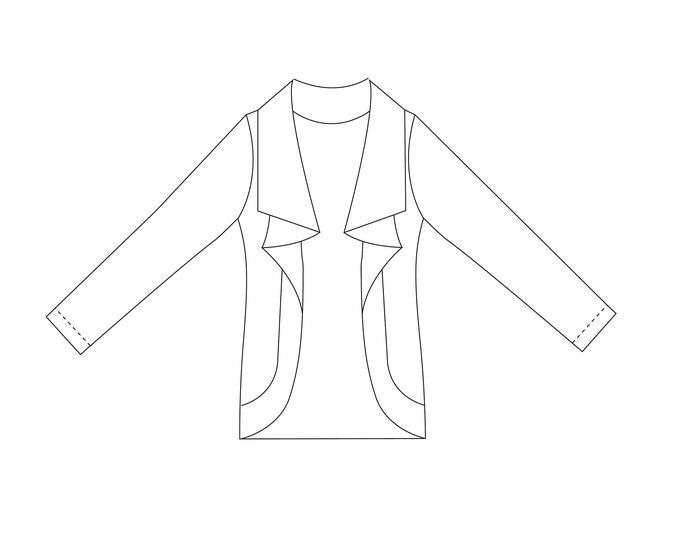 Molly Cardigan PDF Sewing Pattern