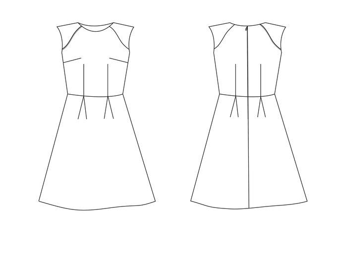 Liola Patterns Madison Dress PDF Sewing pattern